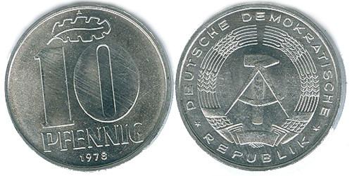 10 пфеннигов 1978 «A» ГДР