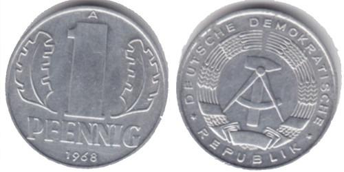1 пфенниг 1968 «A» ГДР
