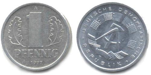 1 пфенниг 1977 «A» ГДР