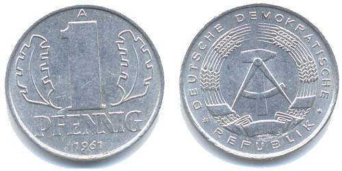1 пфенниг 1961 «A» ГДР