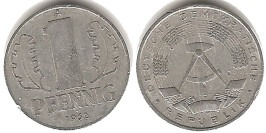 1 пфенниг 1962 «A» ГДР