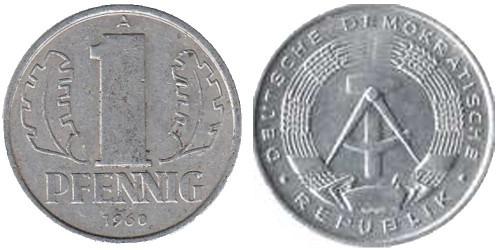 1 пфенниг 1960 «A» ГДР