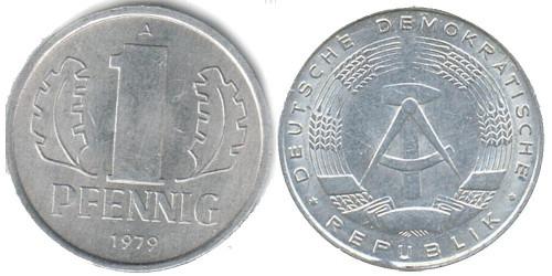 1 пфенниг 1979 «A» ГДР