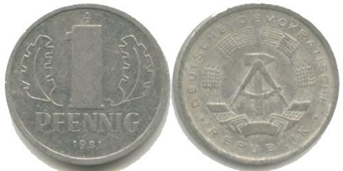 1 пфенниг 1981 «A» ГДР