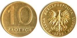 10 злотых 1989 Польша