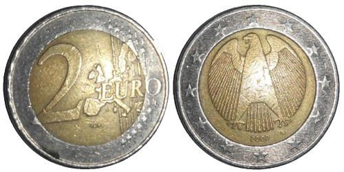 2 евро 2002 «G» Германия