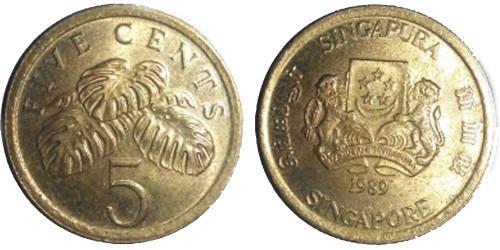 5 центов 1989 Сингапур
