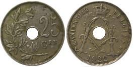 25 сантимов 1922 Бельгия (VL)