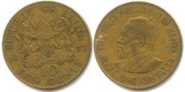 10 центов 1977 Кения
