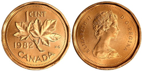 1 цент 1982 Канада