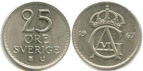 25 эре 1967 Швеция