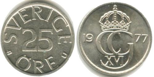 25 эре 1977 Швеция