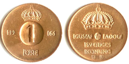 1 эре 1966 Швеция