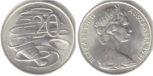 20 центов 1981 Австралия