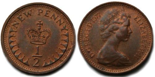 1/2 пенни 1977 Великобритания