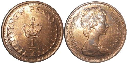 1/2 пенни 1980 Великобритания