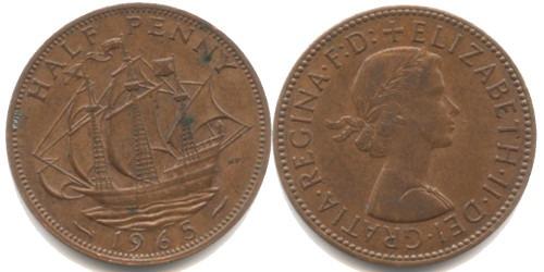 1/2 пенни 1965 Великобритания