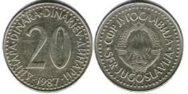 20 динар 1987 Югославия