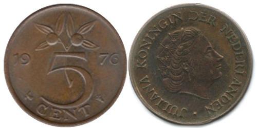 5 центов 1976 Нидерланды