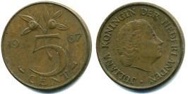 5 центов 1967 Нидерланды