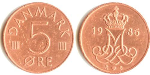 5 эре 1986 Дания