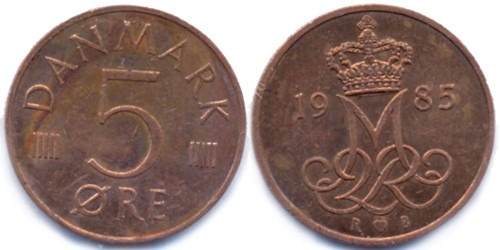 5 эре 1985 Дания