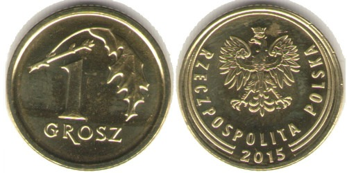 1 грош 2015 Польша