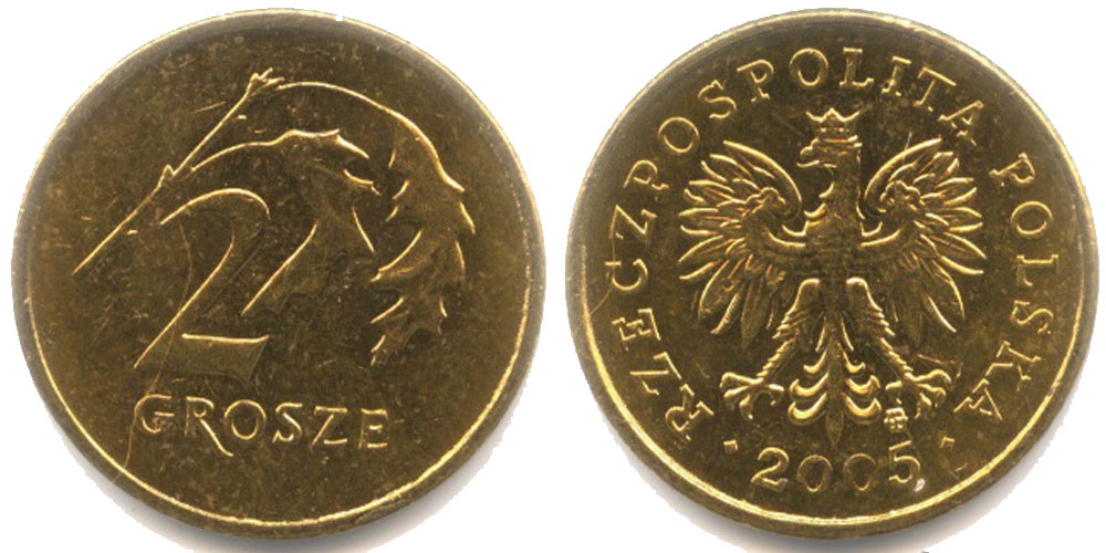 Стоимость 1 польского гроша 2005 где можно продать редкие монеты современной россии