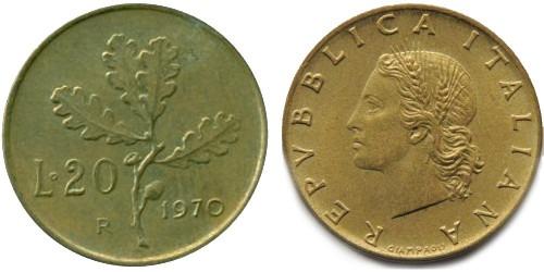 20 лир 1970 Италия