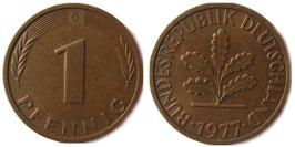 1 пфенниг 1977 «G» ФРГ