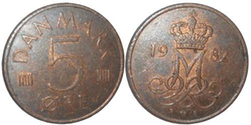 5 эре 1982 Дания