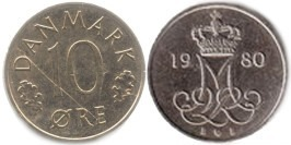 10 эре 1980 Дания