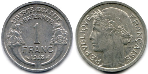 1 франк 1948 Франция