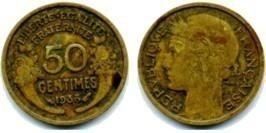50 сантимов 1938 Франция