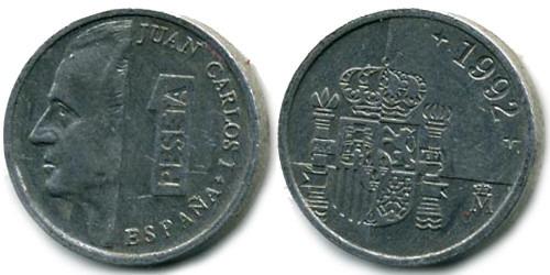 1 песета 1992 Испания
