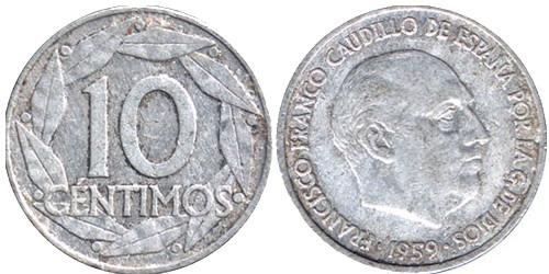 10 сентимов 1959 Испания