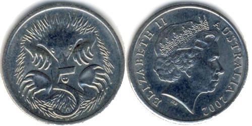 5 центов 2002 Австралия