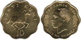 10 центов 1984 Танзания UNC