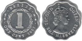 1 цент 2005 Белиз UNC