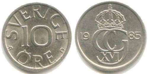 10 эре 1985 Швеция