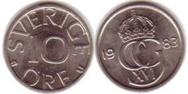 10 эре 1983 Швеция