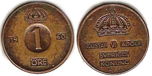 1 эре 1960 Швеция