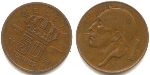 50 сантимов 1953 Бельгия (VL)