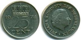 25 центов 1974 Нидерланды