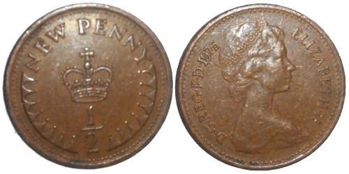 1/2 пенни 1975 Великобритания