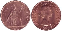 1 пенни 1963 Великобритания