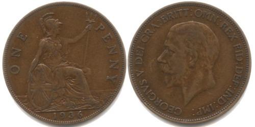 1 пенни 1936 Великобритания