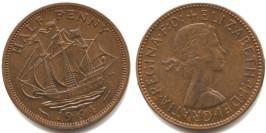 1/2 пенни 1964 Великобритания