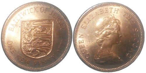 1 пенни 1971 остров Джерси