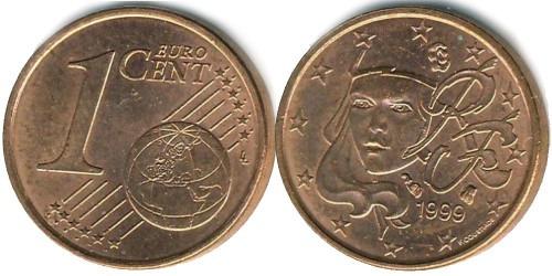 1 евроцент 1999 Франция
